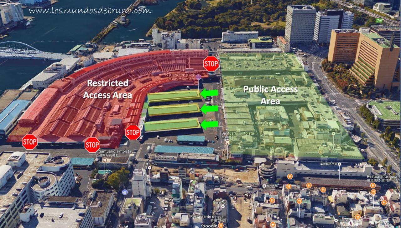 Tsukiji Map English